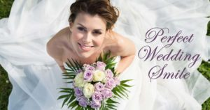 Bride with perfect wedding day smile